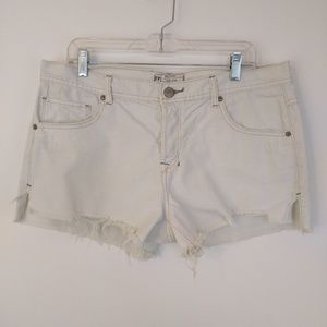 Free People Cut-Off Jean Shorts Button Fly